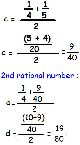 How To Find Rational Numbers Between Two Numbers