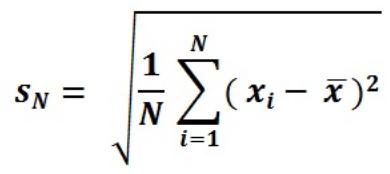 Population Standard Deviation Calculator