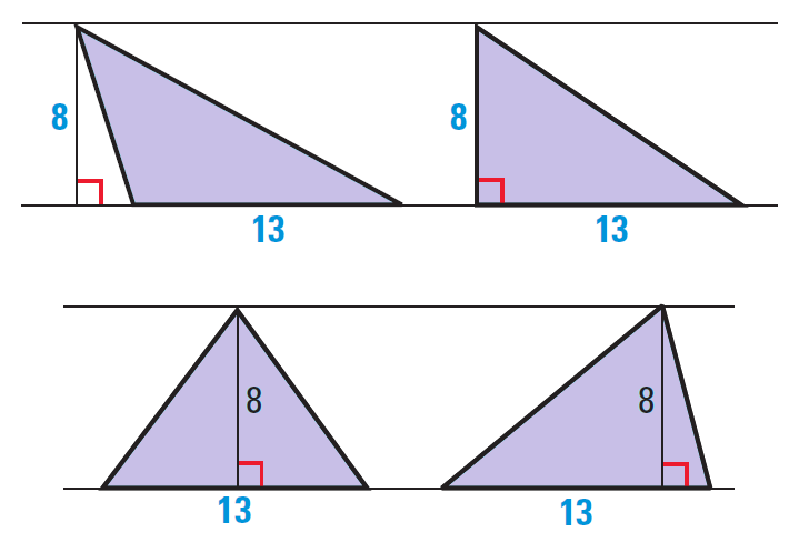 Area Of Triangles And Quadrilaterals Worksheet