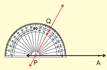 Construction of angles using protractor