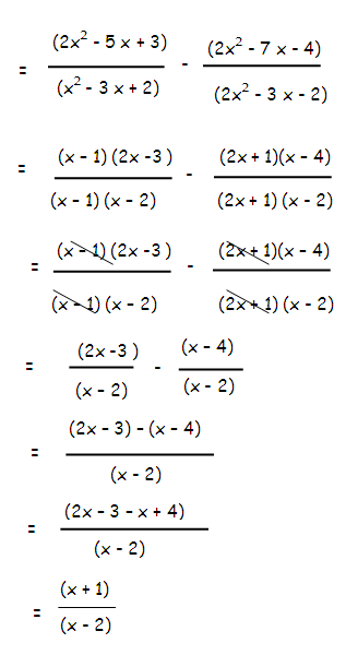 adding and subtracting rational expressions examples with answers