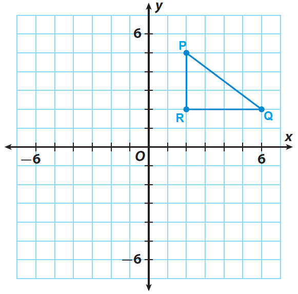 trace triangle pqr and the x and y axes onto a piece of paper - Reflections Worksheet