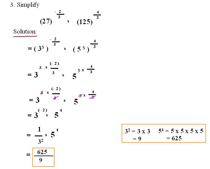 laws of exponents test pdf