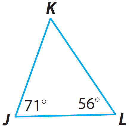 how to find missing measures of triangles