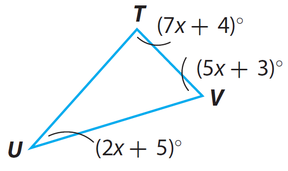 Finding Missing Angle Measures In Triangles Worksheet