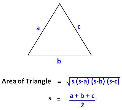Herons Triangle Calculator on Geometry Level 1 4