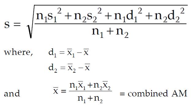 Standard Deviation Formula Shortcut