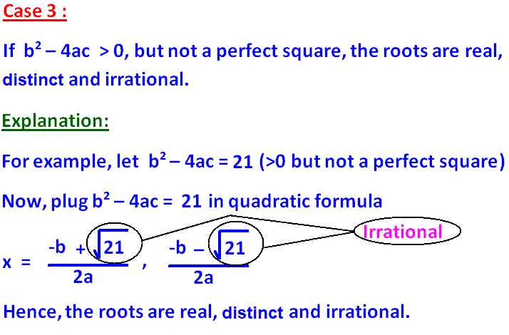 nature of the roots of a quadratic equation. Black Bedroom Furniture Sets. Home Design Ideas
