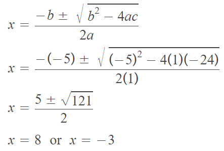 Solving Quadratic Equations By Quadratic Formula Worksheet
