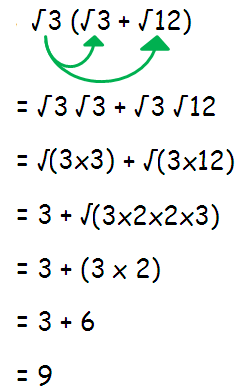 Simplify radical expressions using the distributive property worksheet