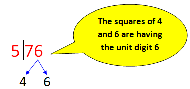 trick to find square root of large numbers