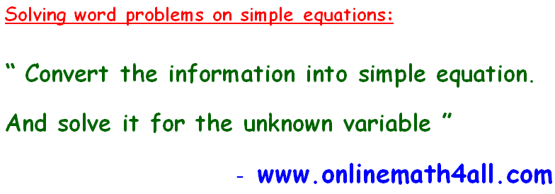 solve word problem