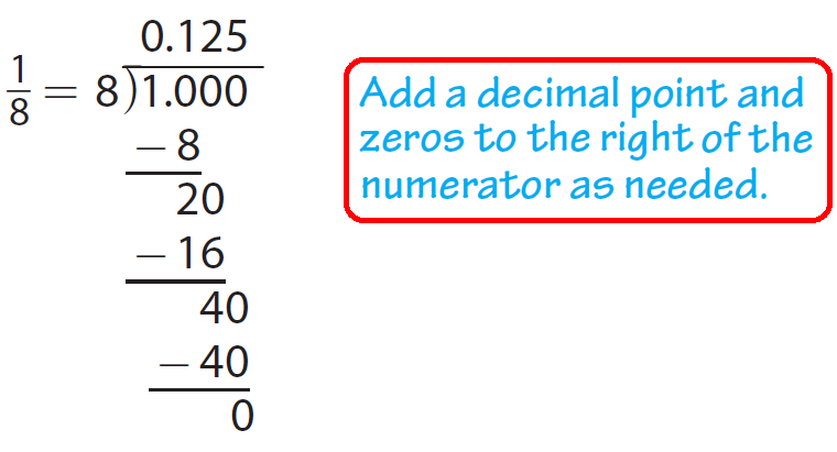 how to write 1 8 as a decimal