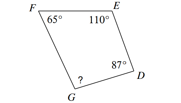 Find Missing Angles In Triangles And Quadrilaterals