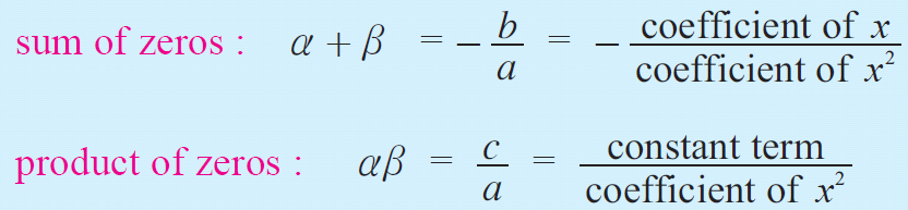 Sum and product of the roots of a quadratic equation examples