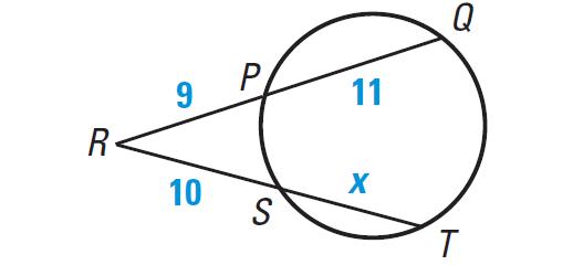 Segment Lengths in Circles Worksheet